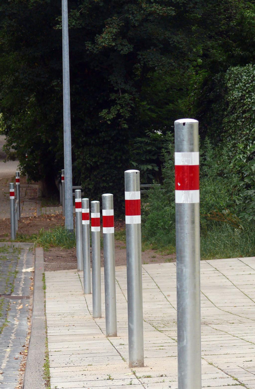 Umstrittene Poller in der Güntherstraße