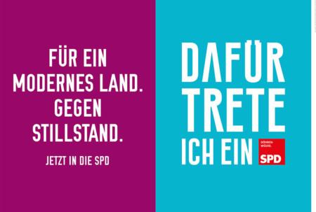 Für ein modernes Land. Gegen Stillstand. Jetzt in die SPD. Dafür trete ich ein.