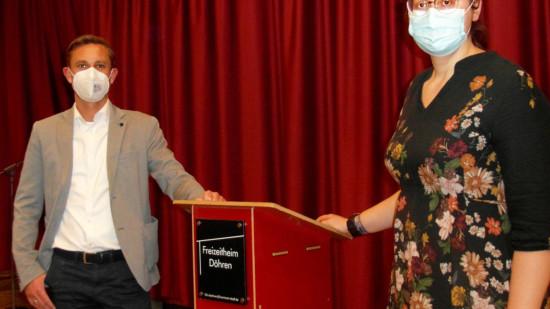 Ratsherr Angelo Alter und Ratsfrau Anja Schollmeyer sind die beiden Spitzenkandidaten für den hannoverschen Rat aus Döhren-Wülfel.